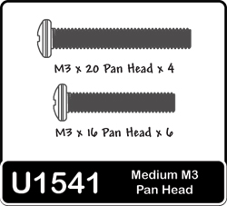 Schumacher Medium M3 Panhead Screws x 4 x 6 U1541