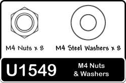 Schumacher M4 nuts and washers x 8 each U1549