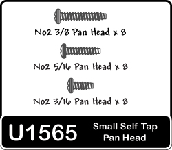 Schumacher Small Self-tap Panhead Screws x 12 mxd. U1565