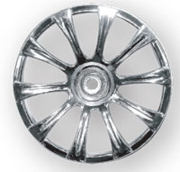 Schumacher Chrome 10 Spoke Wheel (1pr) - Rascal U3098