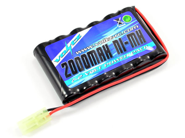 Image Of Voltz Hobby Engine 7.2V 2000mah Flat AA Battery Pack w/ Mini Tamiya Plug