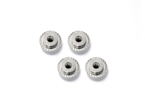 Image Of HPI Flanged Lock Nut M5x8mm (silver/4pcs)