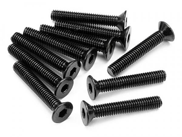 HPI Flat Head Screw M3x18mm (hex Socket/10pcs) Z086
