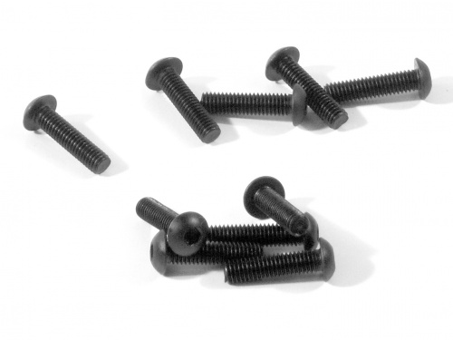 Image Of HPI Button Head Screw M3x12mm (hex Socket/10 Pcs)