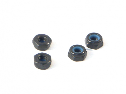 Image Of HPI Lock Nut M3 Thin Type (4pcs)