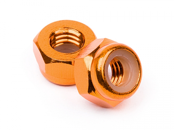 Image Of HPI Aluminum Lock Nut M4 (orange/10pcs)