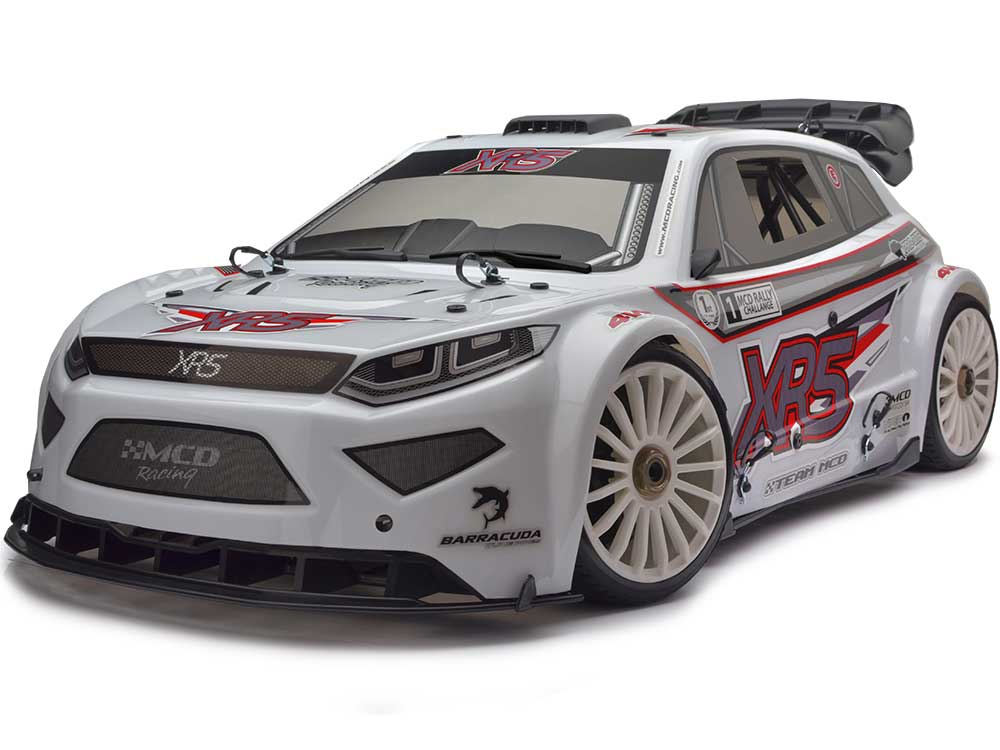 MCD Racing XR5 Rally Competition 26cc. ARTR - Painted Body - White 00522001CW