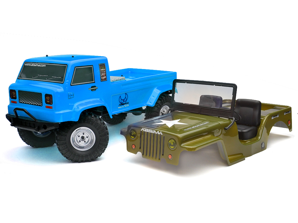 Absima 1:10 EP Crawler CR2.4 RTR - Blue + Free Military Jeep Bodyshell 12003