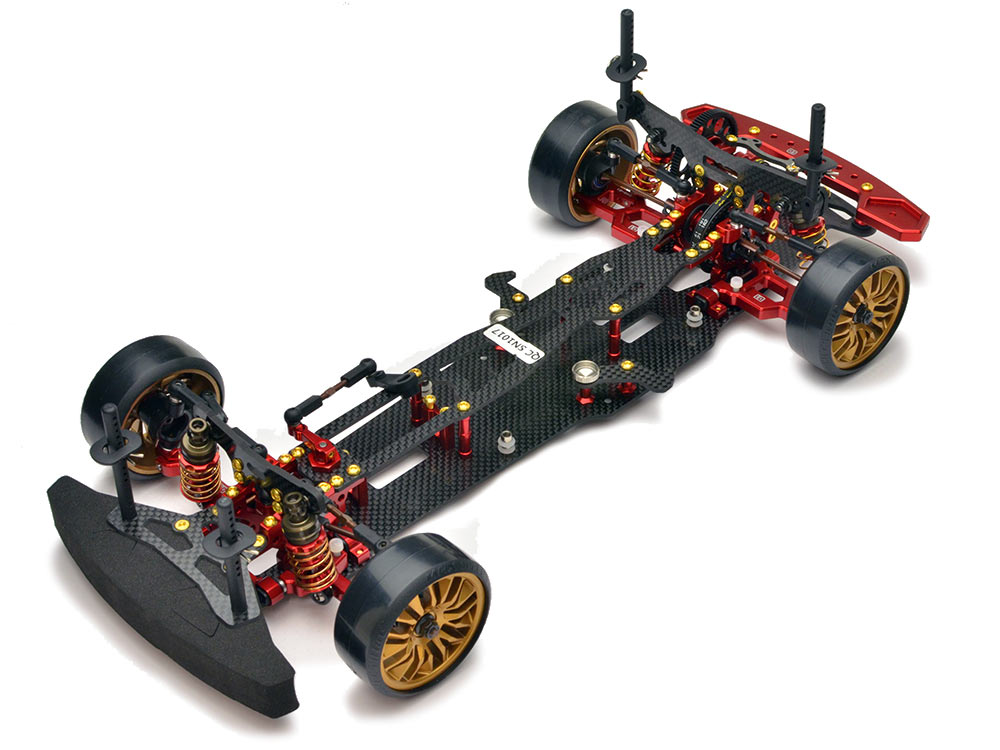 Absima 1:10 EP Drift Onroad DRR-01 2WD Rolling Chassis - Metallic Red 12101
