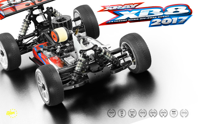 Xray XB8 2017 Specs 1/8 Luxury Nitro Off-Road Car XR350012