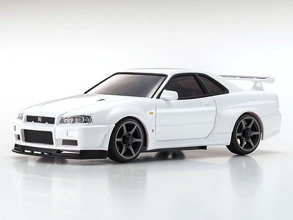 Kyosho Mini Z MA020 Sports 4wd Nissan Skyline GT R R34 Vspec II   White  32132W