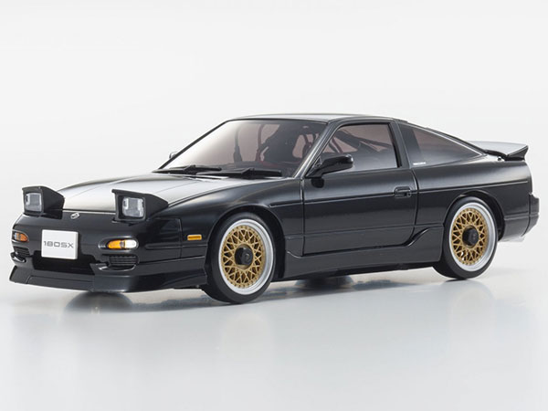 Kyosho Mini Z MA020 Sports 4wd Nissan 180SX Aero - Black 32135BK