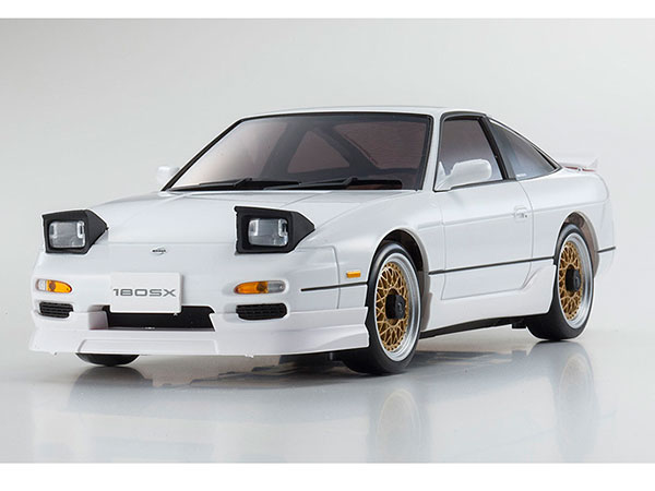 Kyosho Mini Z MA020 Sports 4wd Nissan 180SX Aero - White - Gyro Included 32135W-G