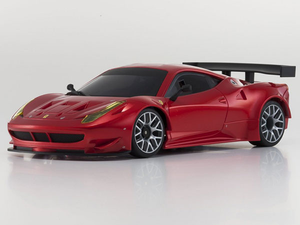 Kyosho Mini Z MR03 Sports 2 Ferrari 458 Italia GT2 - Chrome Red 32206GMR