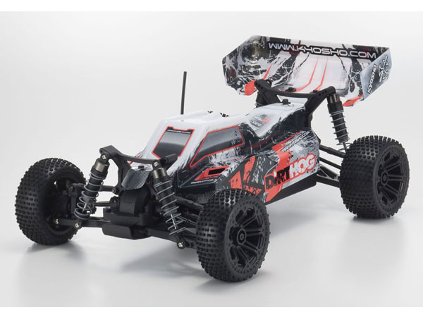 Kyosho Fazer Dirt Hog 1/10 EP 4WD Buggy Readyset RTR - Red 34351T2B