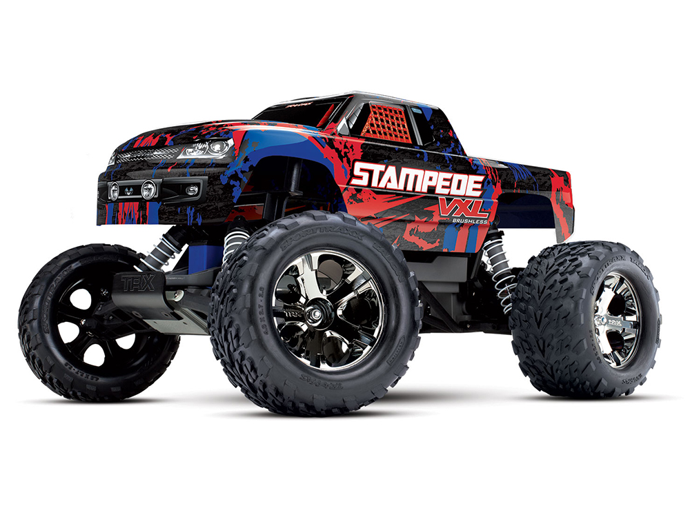 Traxxas Stampede VXL 2.4GHz RTR TSM - Red TRX36076-4-RED