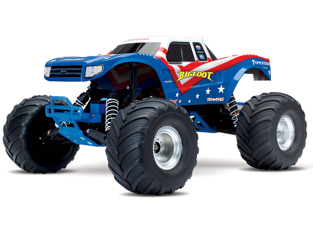 Traxxas BigFoot 1/10 Scale Monster Truck RTR - Red/ White/ Blue 36084-1RWB