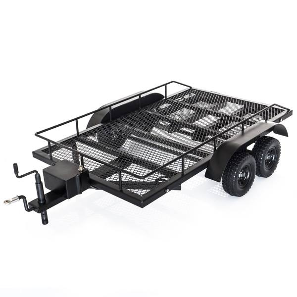 HobbyTech Steel Double Axle Trailer with LEDs and Working Parts HT-SU1801102