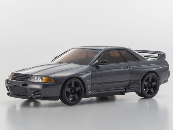 Kyosho Mini-Z MA020 Sport 4wd Nissan Skyline GTR Nismo R32 (KT19) Gun Metal w/LED Set 32138GM-LED