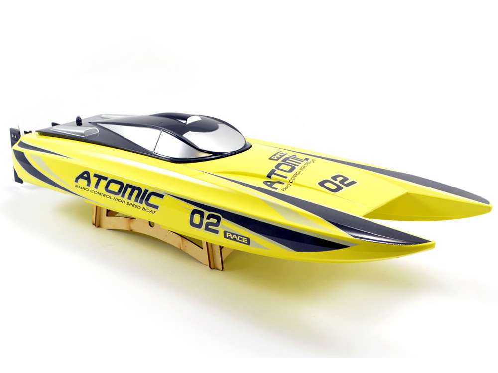 Volantex RC Racent Atomic 70cm Brushless Racing Boat RTR (Yellow) V792-4Y