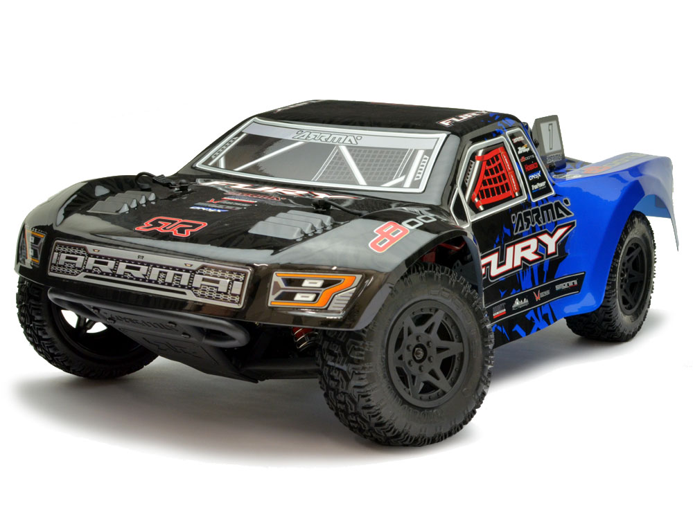 Arrma Fury 2wd Mega Brushed Shortcourse Truck 1/10 - Blue AR102651