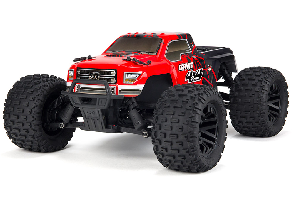 Arrma Granite 4x4 Mega Brushed 1/10th RTR Monster Truck - Red/ Black AR102681