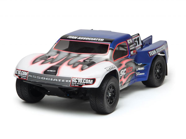 Associated SC10.2 Factory Team 1/10 Scale Electric 2WD Off Road Race Truck Kit AS7038