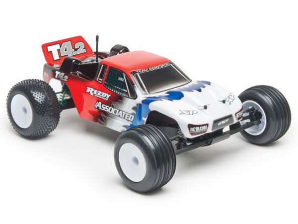 Associated RC10T4.2 Race Spec 1/10th Scale RTR 2WD Electric Race Truck (Red) AS7039R