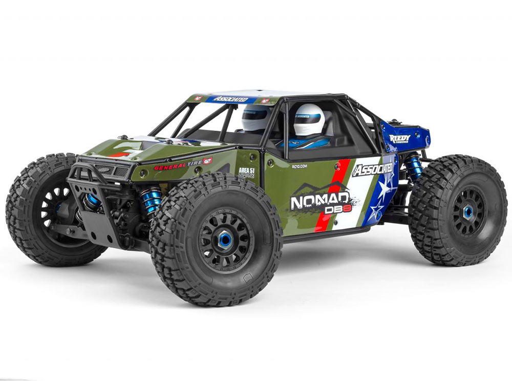 Associated Nomad DB8 1/8th Brushless Buggy - Nato Green AS80941G