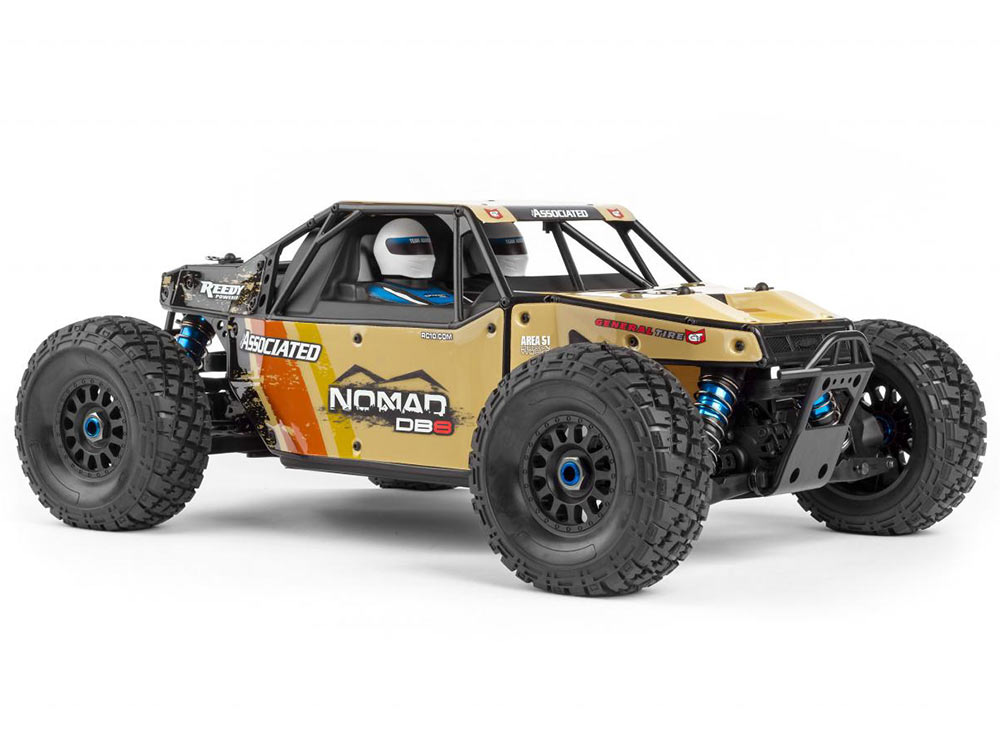 Associated AE Qualifier Series Nomad DB8 1/8th Brushless Buggy - Sand Yellow AS80941S