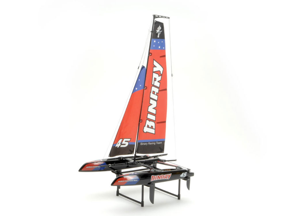 Joysway Binary 400mm Mini Catamaran Sailboat 2.4GHz RTR, Red JOY8807R