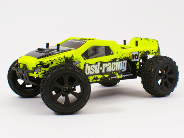 BSD Racing Flux Onslaught V2 1/10 Truck 4wd with 7.4v LiPo BS220R