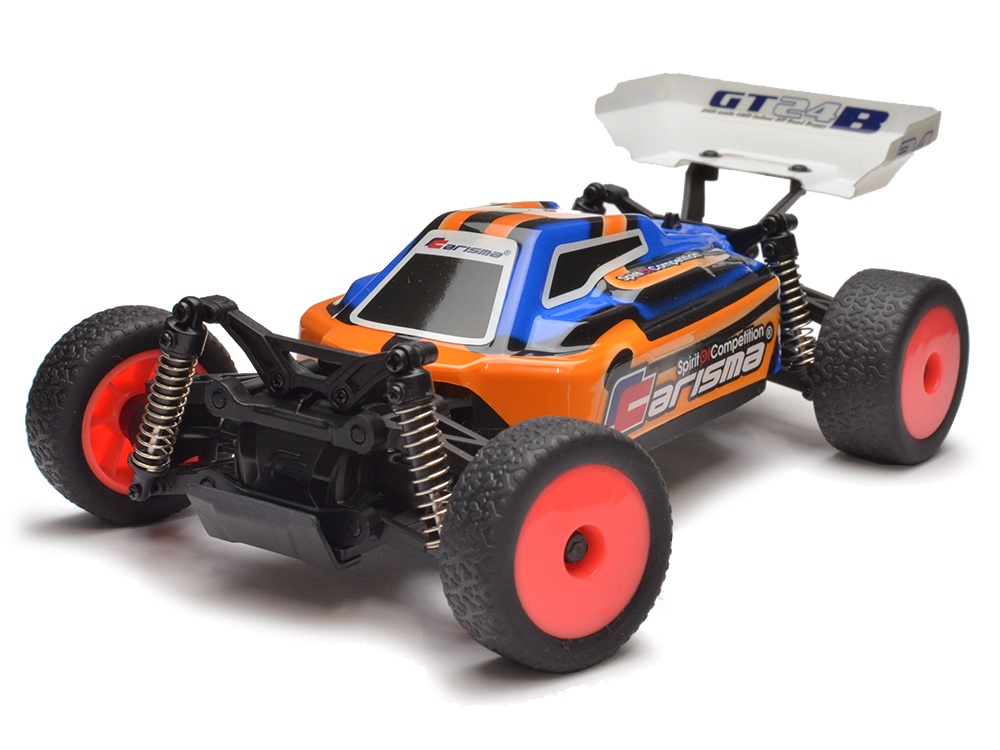 Carisma 1/24 GT24B Brushless Micro RTR Buggy - Orange CA57668O