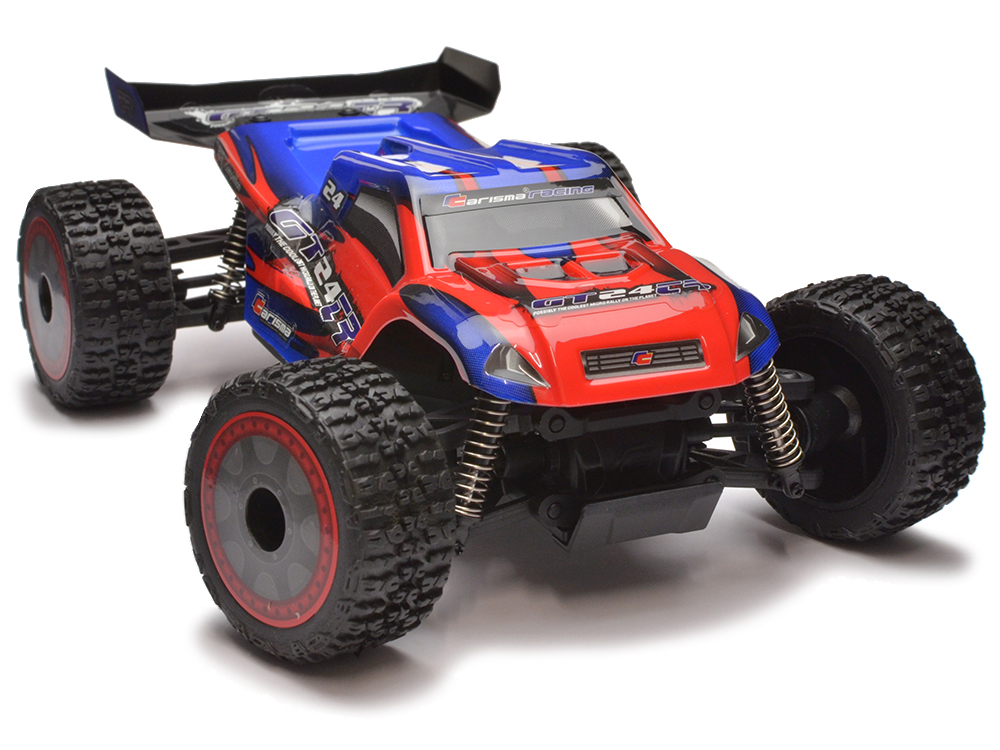 Carisma GT24TR 1/24th 4wd Brushless Micro Truggy RTR (Red/Blue) CA58168R