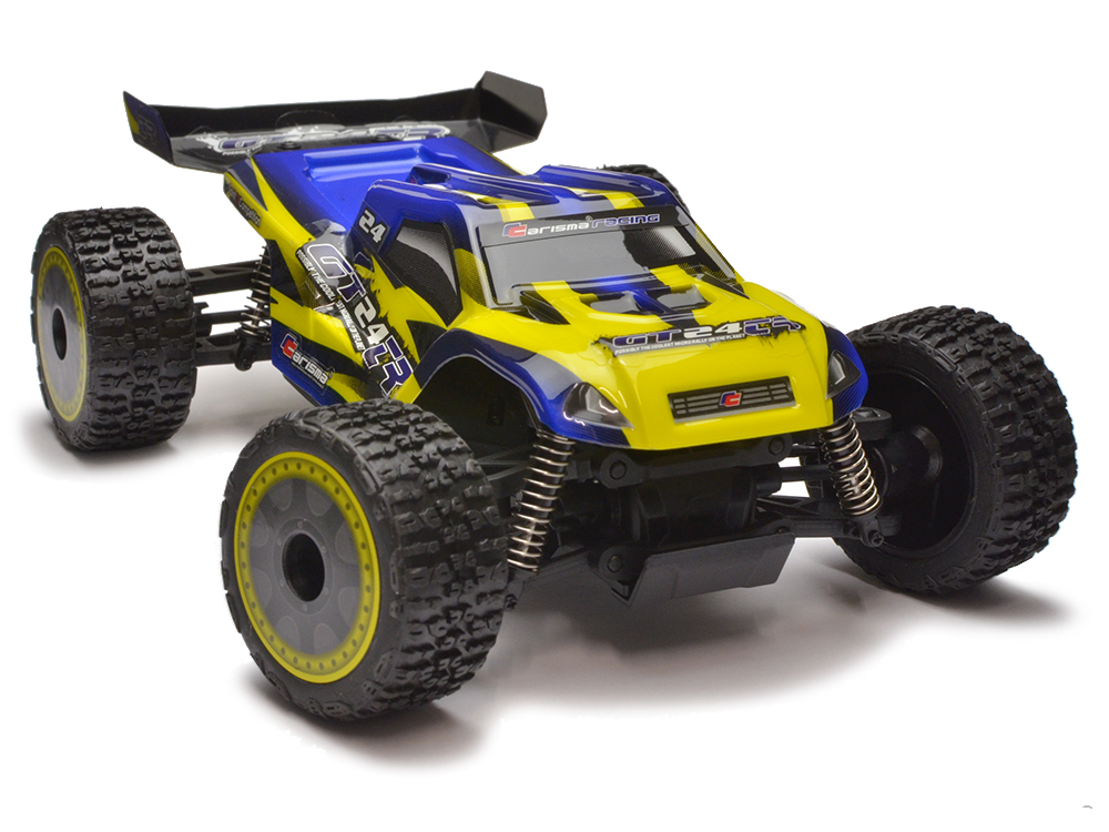 Carisma GT24TR 1/24th 4wd Brushless Micro Truggy RTR (Yellow/Blue) CA58168Y