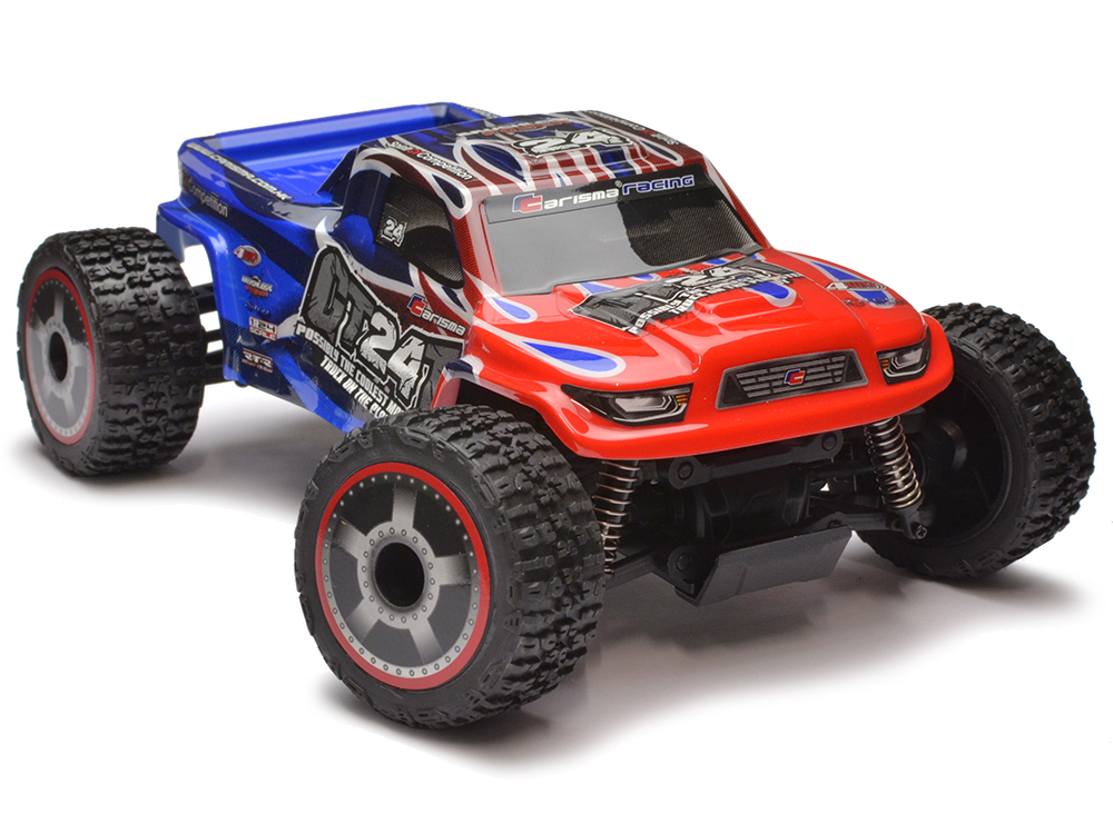 Carisma GT24T 1/24th 4wd Brushless Micro Truck RTR (Red/Blue) CA58368B