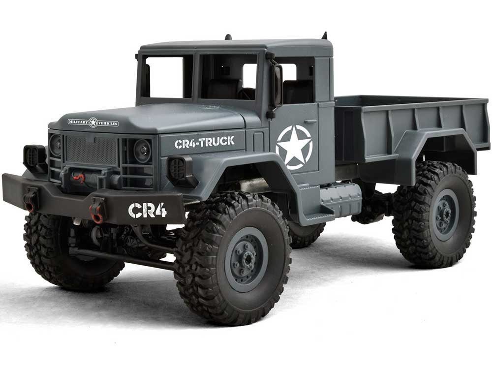 Funtek CR4 V2 1/16th 4WD Military RTR Truck (Dark Grey) FTK-CR4-DG2