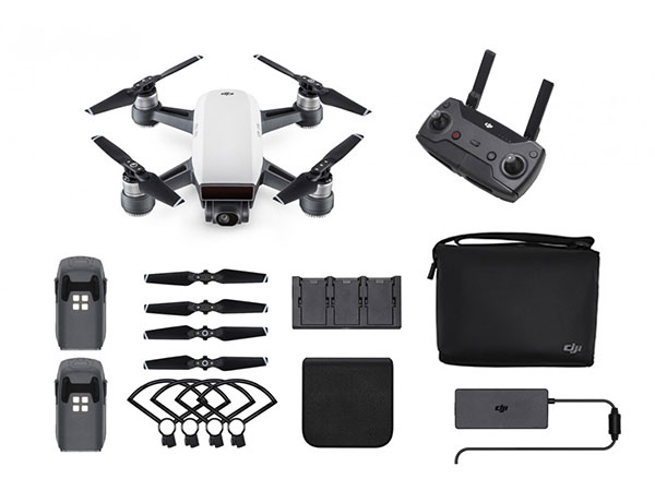 DJI Spark Mini Drone Fly More Combo - Alpine White DJI-SPARK-FM