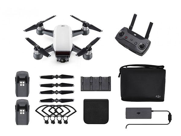 beste waarde korting wereldwijd verkocht DJI Spark Mini Drone Fly More Combo - Alpine White DJI-SPARK-FM
