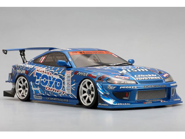 Yokomo Drift Chassis Kit with Team Toyo with GP Sports S15 Silvia Bodyshell DP-TYS15