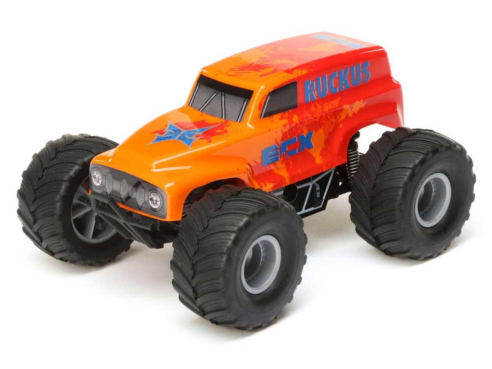 ECX 1/28 Micro Ruckus 2WD Monster Truck - Orange ECX00008T2