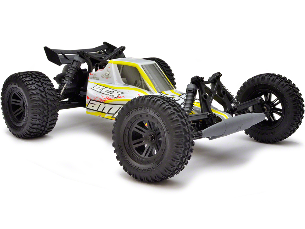 ECX AMP 1:10 2WD Desert Buggy: White/ Yellow/ Red RTR ECX03029IT2