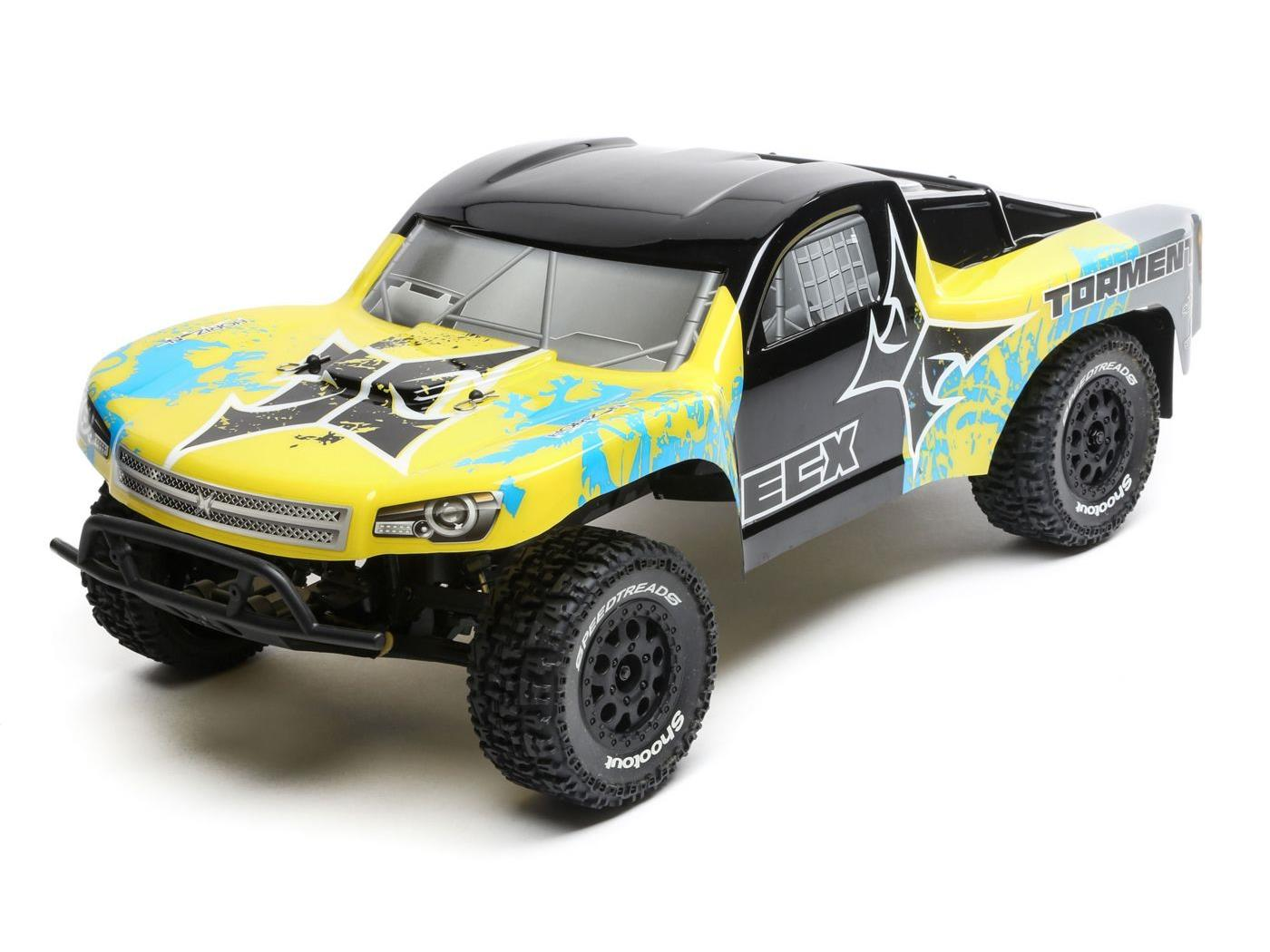 ECX 1/10 2wd Torment SCT BD, Lipo: Yellow/Blue RTR INT ECX03333IT2