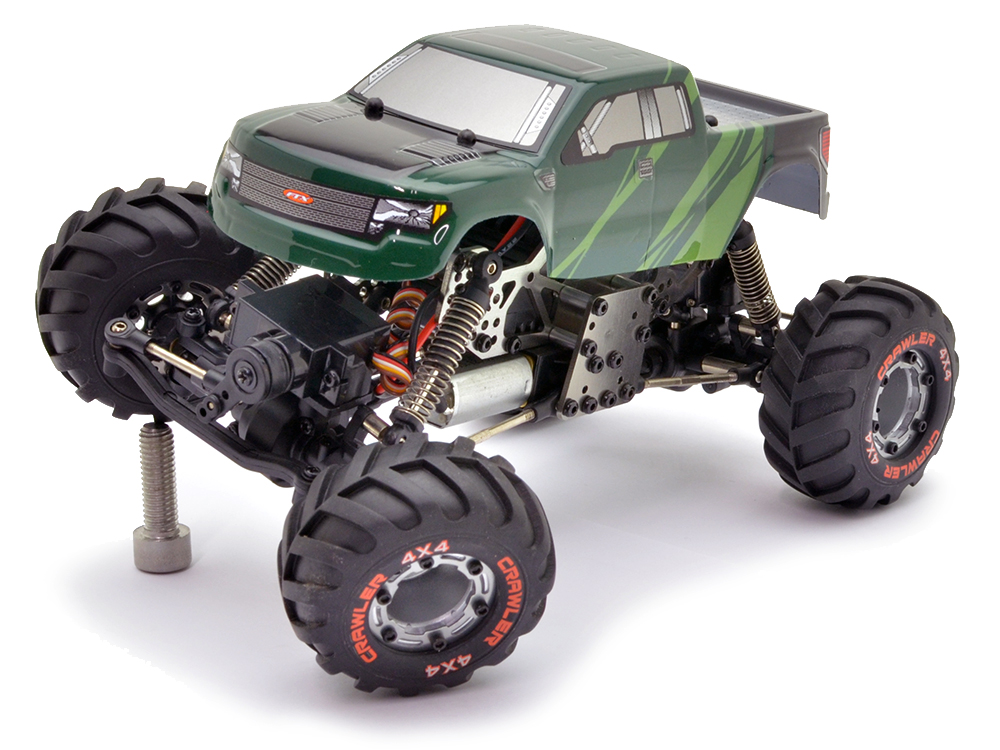 ftx ibex micro 1 24th 4wd 4ws rock crawler rtr green cab. Black Bedroom Furniture Sets. Home Design Ideas