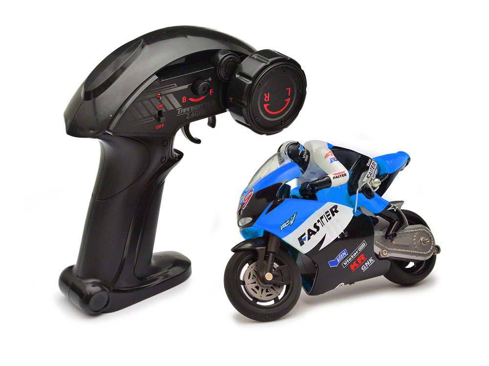 JD Mini RC Bike - 2.4Ghz - Blue GX806B