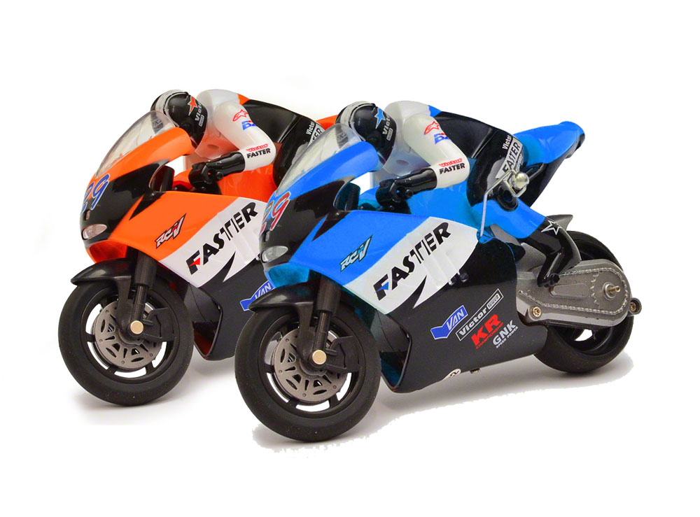 JD Mini RC Bike - 2.4Ghz - Orange and Blue (Set of 2) GX806OB