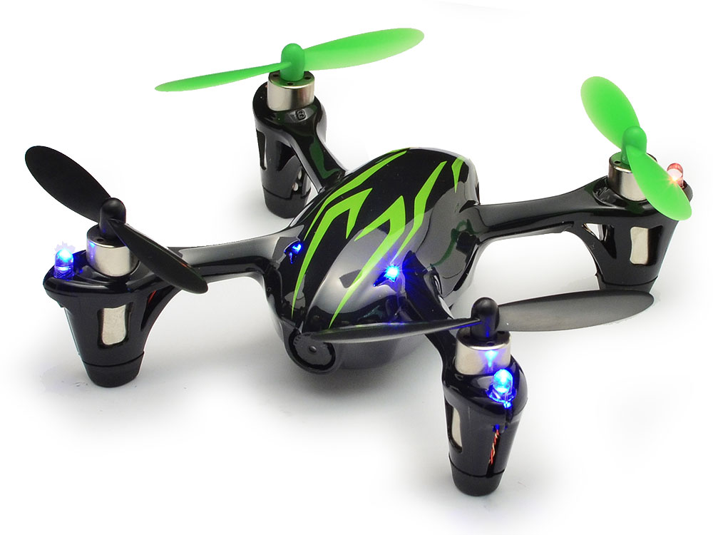 Hubsan X4 LED Mini Quad Copter RTF with HD Camera Recording (Black/Green) H107CHD-BG