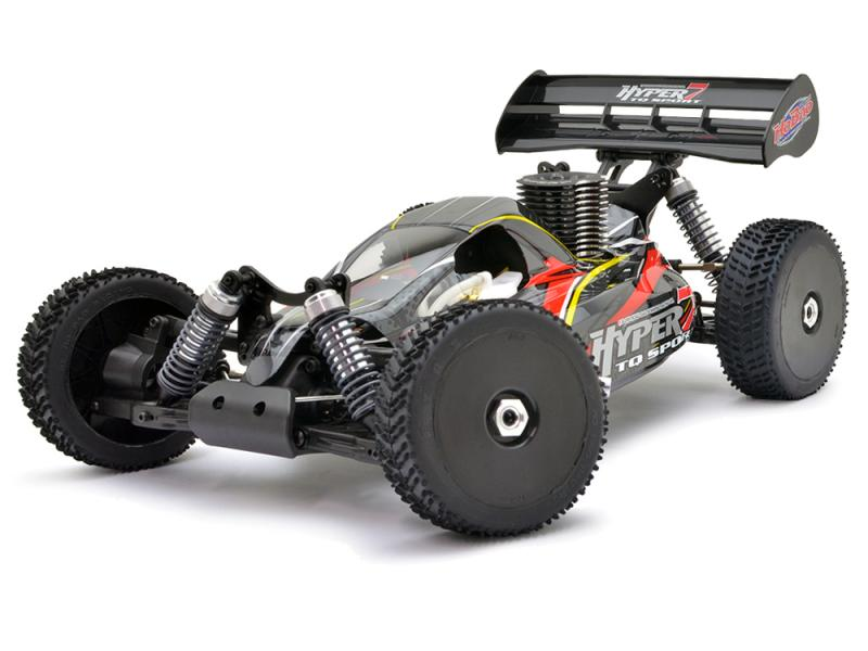 HoBao Hyper 7 TQ2 RTR Buggy with Hyper .21 Turbo Engine 2.4GHz Radio- Black HBM7-TQC21DG