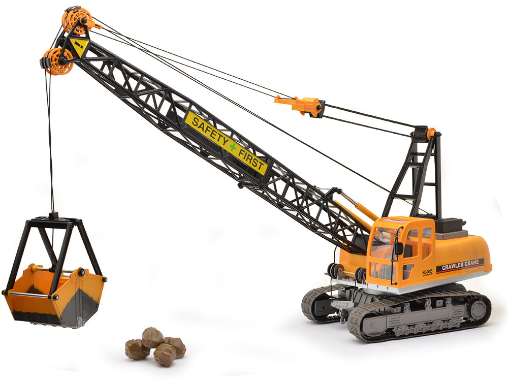 Large Construction Cranes : Hobby engine construction site crawler crane he