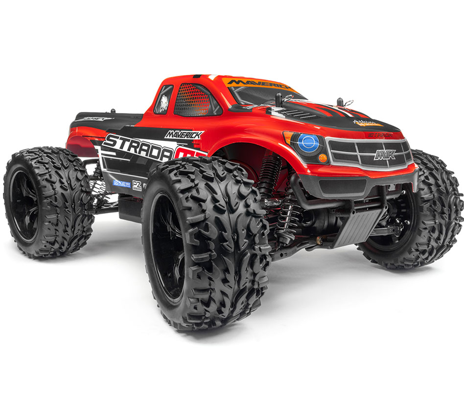 Maverick Strada MT Brushless RTR Monster Truck - Red MV12623